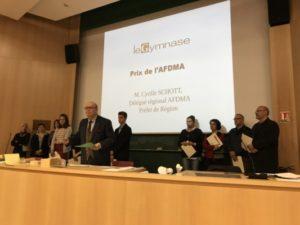 Remise du prix AFDMA le 17 nov; 2018 à Strasbourg